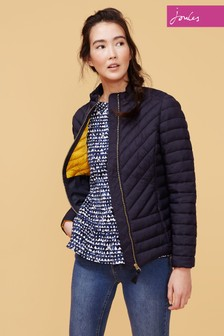 Joules Elodie Chevron Quilted Jacket