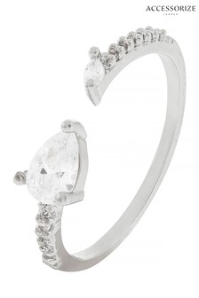 Z for Accessorize Rose Gold Tone Graduated Crystal Ring With Swarovski® Crystals