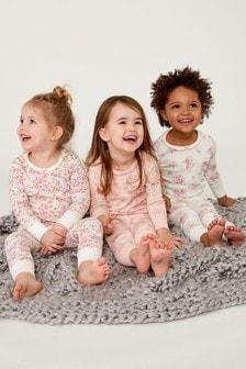 Ditsy Snuggle Pyjamas Three Pack (9mths-8yrs)