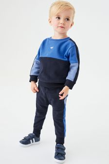 Colourblock Sweatshirt And Jogger Set (3mths-7yrs)