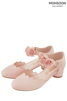 Monsoon Pale Pink Matilda Corsage Two Part Shoe
