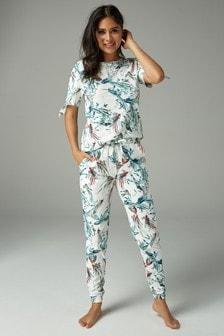 c851c1fe3 Bird Print Cotton Pyjamas