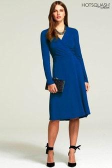 HotSquash Midnight Blue The Wrap Dress