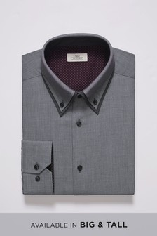Regular Fit Single Cuff Double Collar Shirt