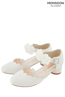 Monsoon Ivory Matilda Corsage Two Part Shoe