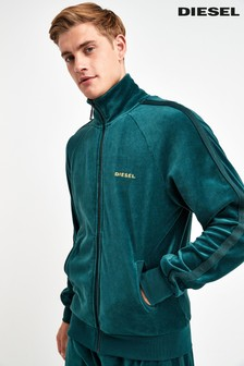 Diesel® Green Velour Track Top