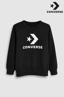 Converse Black Star Chevron Crew