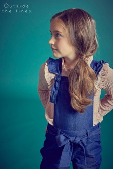 Outside The Line Blue Bibbed Dungaree