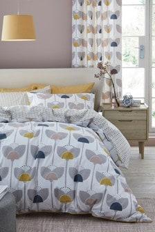Retro Tulip Duvet Cover and Pillowcase Set