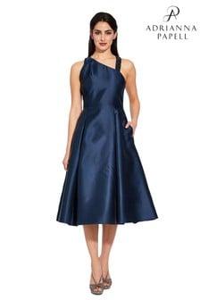 Adrianna Papell Blue Asymmetrical Dress