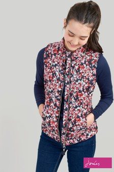 Joules Brindley Print Chevron Quilted Gilet