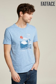 FatFace Blue Cycle Scene Graphic Tee