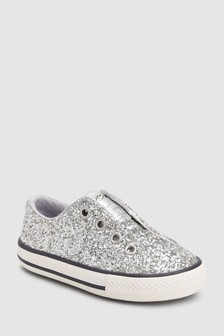 Glitter Laceless Trainers (Younger)