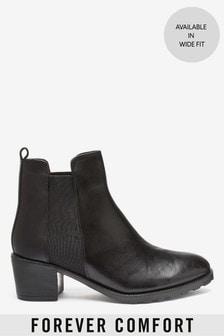 Forever Comfort® Block Heel Chelsea Boots