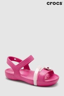 Crocs™ Candy Pink Lina Charm Sandal