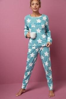 Matching Family Green Star Pyjamas