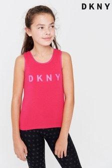 DKNY Pink Logo Mesh Layer Vest