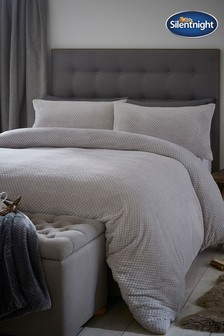 Silentnight Waffle Fleece Duvet Cover and Pillowcase Set