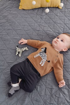 Zebra Knit Jumper (0mths-2yrs)