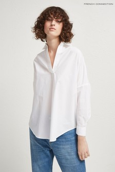 French Connection White Oversized Shirt