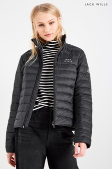 Jack Wills Black Cartmell Lightweight Down Padded Jacket