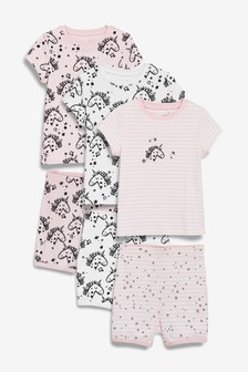 Unicorn Snuggle Short Pyjamas Three Pack (9mths-8yrs)