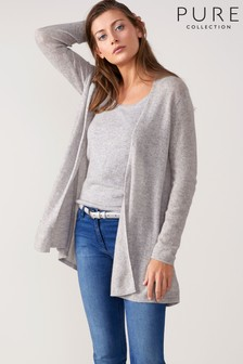 Pure Collection Grey Cashmere Cardigan