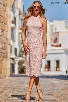 Mint Velvet Brown Tala Snake Effect Ankle Boot
