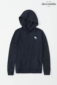 Abercrombie & Fitch Navy Plain Hoody