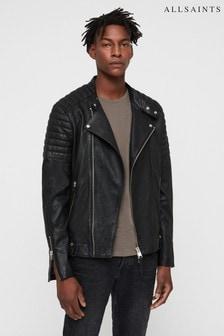 All Saints Black Jasper Leather Biker Jacket