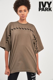 Ivy Park Olive Craft Oversized Tee