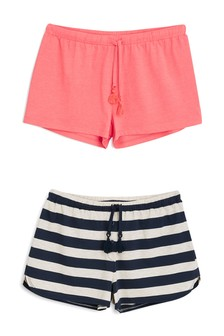 Cotton Rich Shorts Two Pack