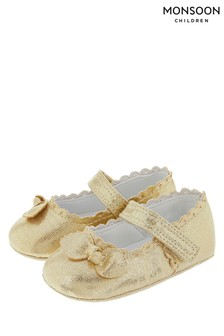 Monsoon Gold Vivienne Bow Booties