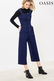 Oasis Blue Button Denim Jumpsuit