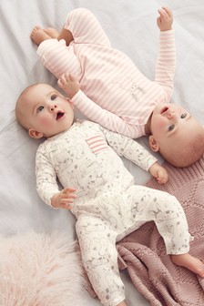 Bunny Rompers Two Pack (0mths-2yrs)