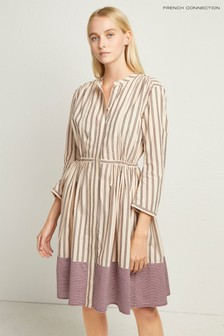 French Connection Pink Mix Stripe Dress