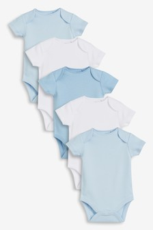 Short Sleeve Bodysuits Five Pack (0mths-3yrs)
