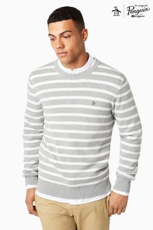 Original Penguin® Rain Heather Stripe Crew