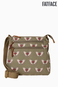 FatFace Butterfly Floral Canvas Cross Body Bag