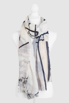 Painted Foil Print Scarf