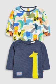 Giraffe/Print T-Shirts Two Pack (0mths-2yrs)