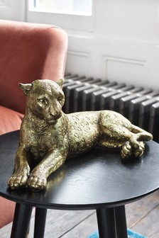 Gold Leopard Sculpture
