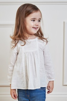Pleated Lace Blouse (3mths-7yrs)