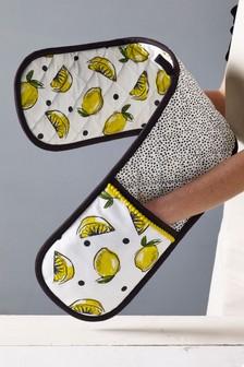 Lemon Print Oven Gloves