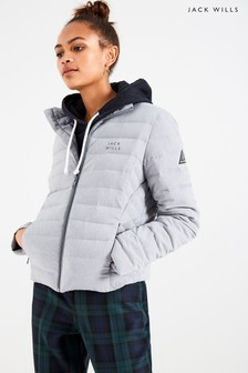 Jack Wills Grey Cartmell Lightweight Down Padded Jacket