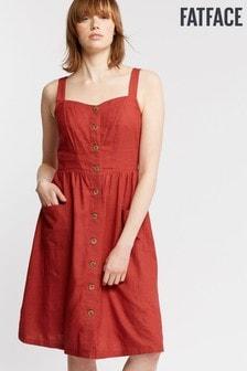 FatFace Red Aubrey Dress