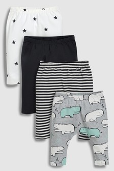 Hippo Leggings Four Pack (0mths-2yrs)
