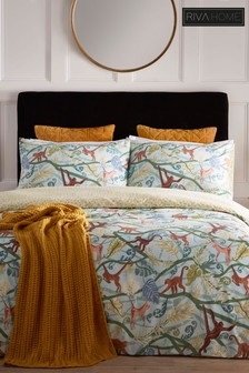 Riva Home Monkey Tropical Duvet Cover And Pillowcase Set
