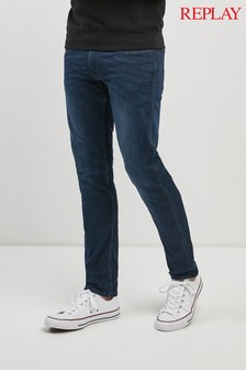 Replay® Dark Wash Anbass Slim Fit Jean