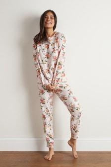 Floral Long Sleeve Cotton Pyjamas